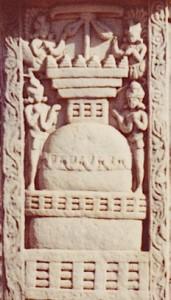 10.1.Stupa.Torana.Stupa 3.Ier s.B.C.Sanchi