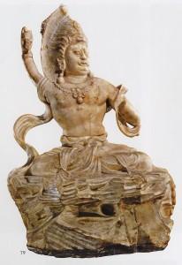 13.12.11.Trailokyavijāya (?), White marble, China, Anguosi, to 760 (X'an, Shaanxi Provincial Museum)