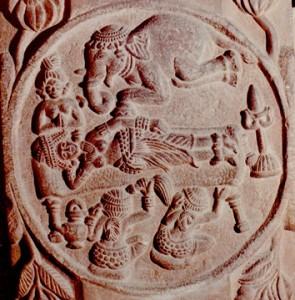 2.3.Songe de Maya.Bharhut.Iers. BC.Mus.Calcutta