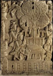 Awakening of the Buddha.Bhârhut. 1st s. BC. JC
