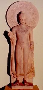 Bouddha debout. Sarnath.Ve-s.Musée de Dehli