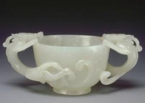 1.Coupe en jade blanc. Chine, époque Ming (1368-1644), ©collection musée national des Arts asiatiques Guimet