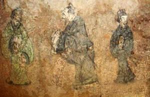 Laozi_&_Kongzi.Peinture d'une tombe Han
