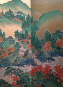 Yamamoto Baiitsu.2. Vue du mont Takao en automne