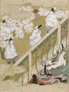 B.Genji Monogatari.Ch.34.Tosa Mitsubnobu.Album.Harvard Art Museum