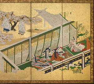 B.Genji Monogatari.Ch.34.Tosa Mitsuoki.1617-1691.Encre et couleurs sur papier.Paravent.Freer&Sackler