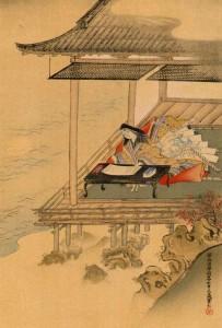 B.Murasaki Shibiku.Kanô Tannyû.1602-1674.Peinture sur soie