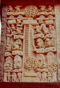 Descente du ciel.Sanchi.Stoupa 1.Ier BC-IerAD