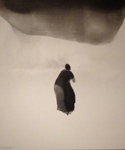 5.La Prière.2010.Encre sur toile