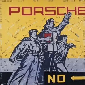 12.Wang Guangyi.Porsche.2005.Huile sur toile.©Saatchi
