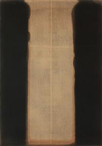 19.Yun Hyong-Keun.Umber Blue.1976.Huile sur toile.©Leeum, Samsung Museum of Art